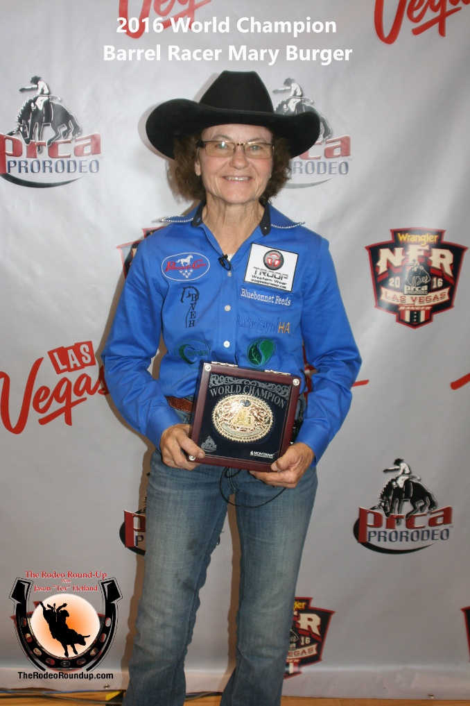 68 Year Old Mary Burger Claims The 2016 Barrel Racing