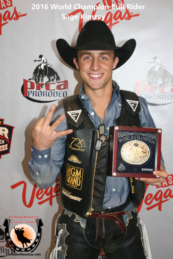 Bull Rider Sage Kimzey Claims Another PRCA World Championship Title